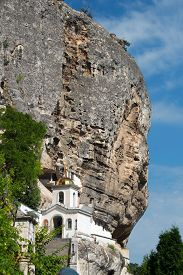 stock photo of crimea  - Uspensky cave monastery in Bakhchisaray - JPG