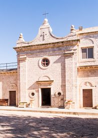 pic of prophets  - Muhraqa monastery on Mount Carmel in Israel in the place of the prophet Elijah fight with the prophets Boal - JPG