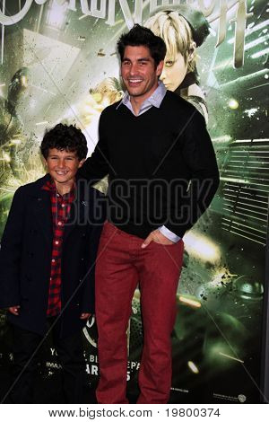 LOS ANGELES - MAR 23:  Mike Catherwood and Nephew arrive at the