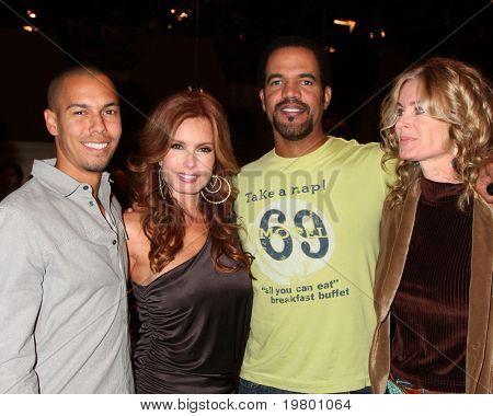 LOS ANGELES - MAR 24:  Bryton James, Tracey E Bregman, Kristoff St John, Eileen Davidson at the Young & Restless 38th Anniversary Party at CBS Television City on March 24, 2011 in Los Angeles, CA
