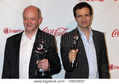 LAS VEGAS - MAR 31:  David Barron; David Heyman in the CinemaCon Convention Awards Gala Press Room at Caesar's Palace on March 31, 2010 in Las Vegas, NV.