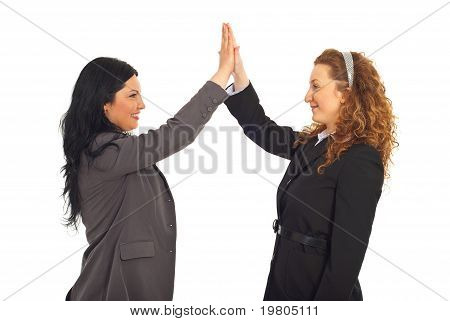 Happy Business Women High Five