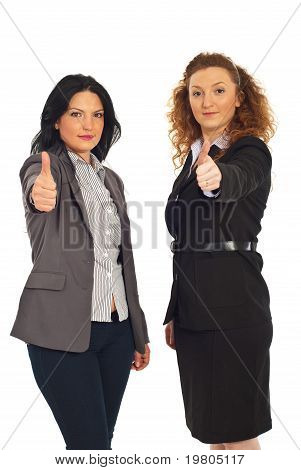 Successful Executives Women Gives Thumbs