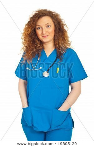 Friendly Smiling Doctor Woman