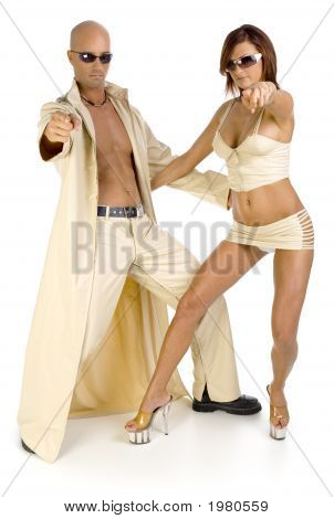 Couple In Beige