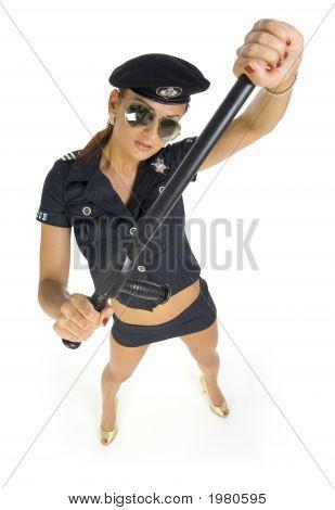 Blocking Policewoman