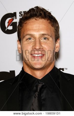 "LOS ANGELES - APR 12:  Ryan Lochte arriving at the ""Gatorade G Series Fit Launch Event"" at SLS Hotel on April 12, 2011 in Los Angeles, CA"