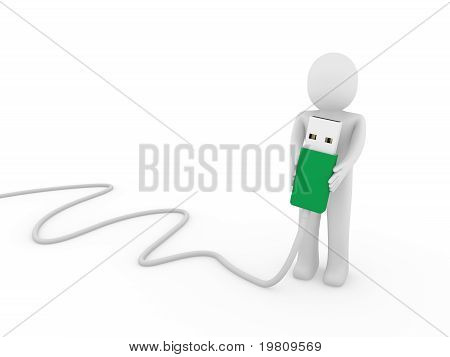 3D Human Man Usb Stick