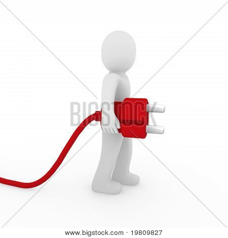 3D Man Red Plug