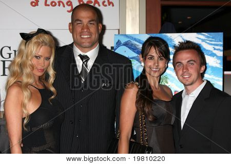 LOS ANGELES - APR 15:  Jenna Jameson, Tito Ortiz, Elycia Turnbow , Frankie Muniz attending the 2011 Toyota Grand Prix Charity Ball at Westin Long Beach on April 15, 2011 in Long Beach, CA.