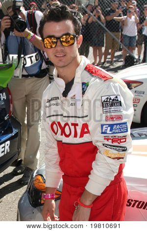 LOS ANGELES - APR 16:  Kevin Jonas  at the Toyota Grand Prix Pro Celeb Race attends the Toyota Grand Prix Pro Celeb Race at the Toyota Grand Prix Track on April 16, 2011 in Long Beach, CA.