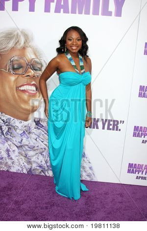 """LOS ANGELES - APR 19:  Naturi Naughton arrives at the """"Madea's Big Happy Family"""" Premiere at ArcLight Cinemas Cinerama Dome on April 19, 2011 in Los Angeles, CA.."""