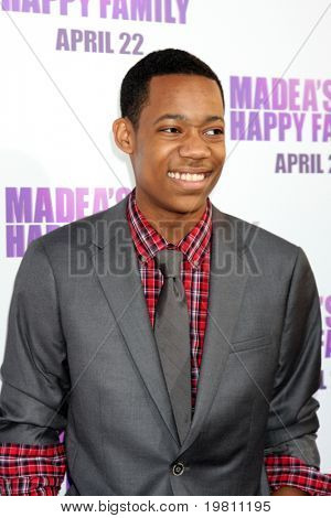 """LOS ANGELES - APR 19:  Tyler James Williams arrives at the """"Madea's Big Happy Family"""" Premiere at ArcLight Cinemas Cinerama Dome on April 19, 2011 in Los Angeles, CA.."""