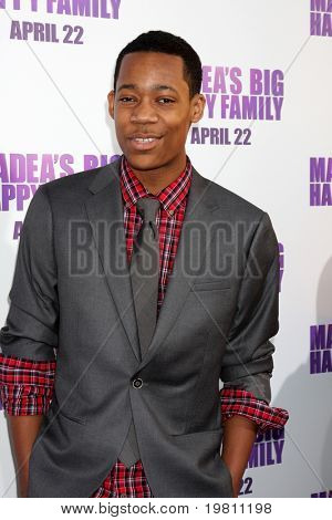 """LOS ANGELES - APR 19:  Tyler James Williams arrives the """"Madea's Big Happy Family"""" Premiere at ArcLight Cinemas Cinerama Dome on April 19, 2011 in Los Angeles, CA.."""