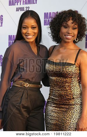 "LOS ANGELES - APR 19:  Keke Palmer, Angell Conwell arrive at the ""Madea's Big Happy Family"" Premiere at ArcLight Cinemas Cinerama Dome on April 19, 2011 in Los Angeles, CA.."