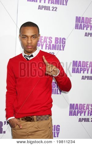 "LOS ANGELES - APR 19:  Shad 'Bow Wow' Moss arrives at the ""Madea's Big Happy Family"" Premiere at ArcLight Cinemas Cinerama Dome on April 19, 2011 in Los Angeles, CA.."