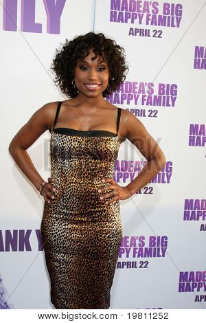 "LOS ANGELES - APR 19:  Angell Conwell arrives at the ""Madea's Big Happy Family"" Premiere at ArcLight Cinemas Cinerama Dome on April 19, 2011 in Los Angeles, CA.."