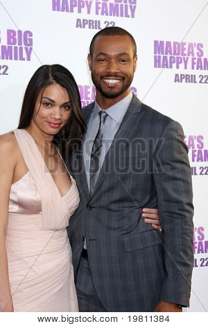 "LOS ANGELES - APR 19:  Isaiah Mustafa (r) arrives at the ""Madea's Big Happy Family"" Premiere at ArcLight Cinemas Cinerama Dome on April 19, 2011 in Los Angeles, CA.."