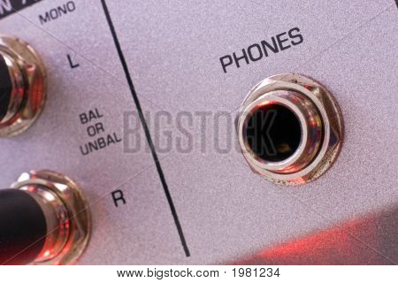 Vintage Mixer Phone Output