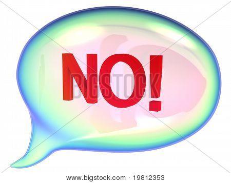 """Bocadillo de diálogo con la señal de """"¡ NO!"""""""