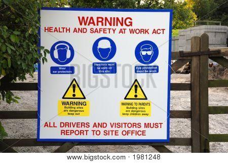 Señal de advertencia de seguridad y salud