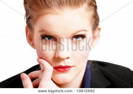 Thoughtful female face
