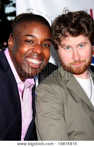 LOS ANGELES - APR 26:  Jacob Lusk, Casey Abrams,  arriving at the 5th Annual BritWeek Launch Party at British Consul General's residence on April 26, 2011 in Los Angeles, CA..