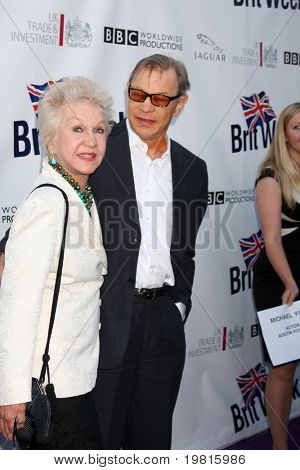 LOS ANGELES - APR 26:  Pat & Michael York arriving at the 5th Annual BritWeek Launch Party at British Consul General's residence on April 26, 2011 in Los Angeles, CA..