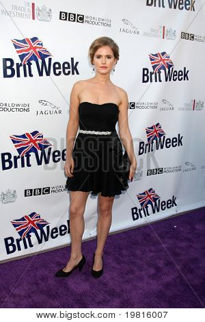 LOS ANGELES - APR 26:  Amelia Jackson-Gray arriving at the 5th Annual BritWeek Launch Party at British Consul General's residence on April 26, 2011 in Los Angeles, CA..