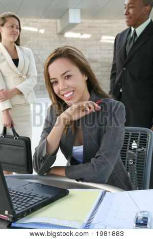 Business Woman On Computer