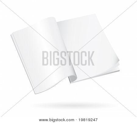 blank isolated magazine sheets