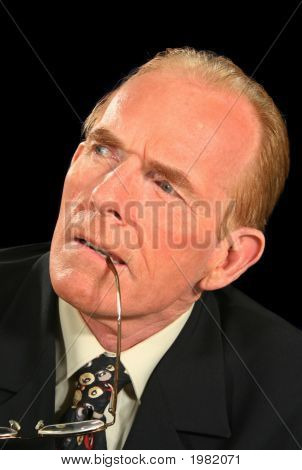 Concentrating Businessman