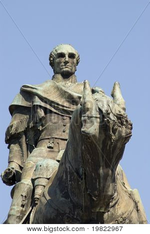 Cropper shot of a statue of Gen. Artigas, Montevideo, Uruguay, 2008