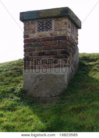 Chimney from air raid shelter