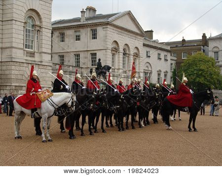 London horse guards on parade