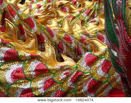 dragon dance costume fabric