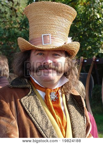 Gentleman dress in Victorian costume with large mustache