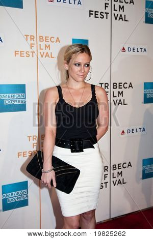 NEW YORK - APRIL 23: Actress Hilary Duff attends the 8th Annual Tribeca Film Festival 'Stay Cool' premiere at BMCC Tribeca PAC on April 23, 2009 in New York.