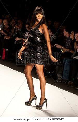NEW YORK - FEBRUARY 11: Model Naomi Campbell walks the runway for the  Fashion for relief-Haiti   during Mercedes-Benz Fashion Week at Bryant Park on February 12, 2010 in New York.