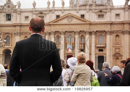 a jesuit father in st peter's square