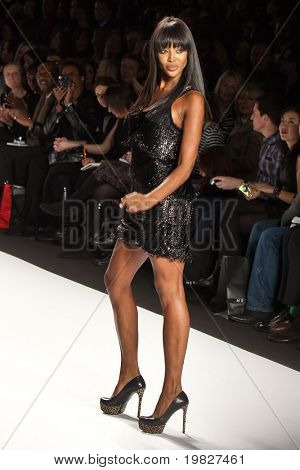 NEW YORK - FEBRUARY 12: Naomi Campbell walks the runway for the  Fashion for relief-Haiti   during Mercedes-Benz Fashion Week at Bryant Park on February 12, 2010 in New York.