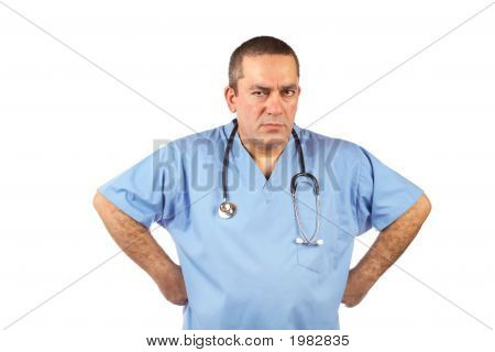 Angered Male Doctor