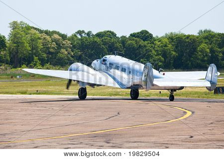 STRATFORD, CT - MAY 31: Beech C-45 Expeditor show up in Wings & Wheels Memorial Day weekend in Sikorsky Memorial Airport  2010 on May 31, 2010 in Stratford, CT.