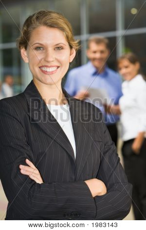 Businesswoman With Folded Arms
