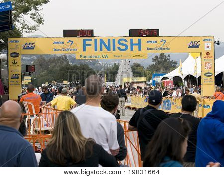 PASADENA, CA. - FEB 21: Finish line of stage 7 Amgen Tour of California February 21st 2009.