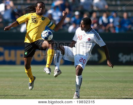 CARSON, CA. - JULY 3: Concacaf Gold Cup soccer match, Canada vs. Jamaica at the Home Depot center in Carson on July 3, 2009.