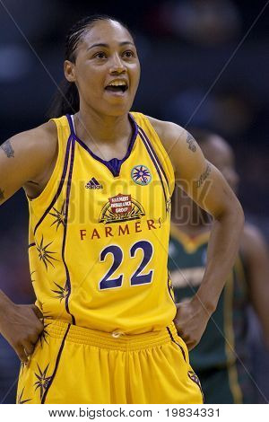 LOS ANGELES, CA. - SEPTEMBER 16: Betty Lennox during the WNBA playoff game of the Sparks vs. Storm on September 16, 2009 in Los Angeles.