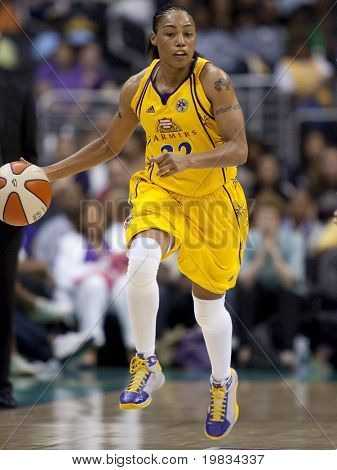 LOS ANGELES, CA. - SEPTEMBER 16: Betty Lennox in action during the WNBA playoff game of the Sparks vs. Storm on September 16, 2009 in Los Angeles.