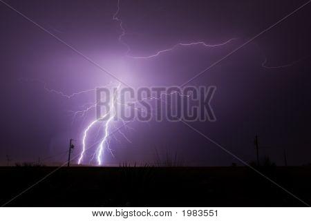Lightning Strikes In The Desert