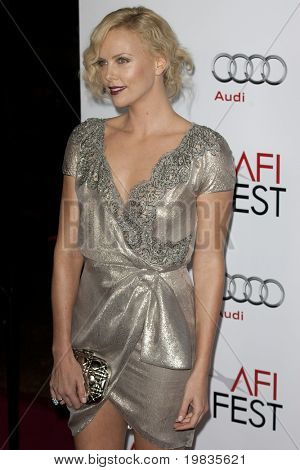 HOLLYWOOD, CA. - NOVEMBER 4: Charlize Theron attends the AFI Fest screening of The Road at The Grauman's Chinese Theater on November 4, 2009 in Hollywood.